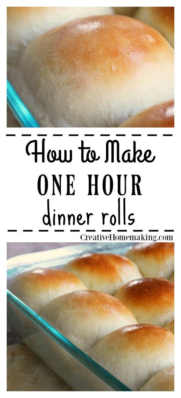 One Hour Dinner Rolls