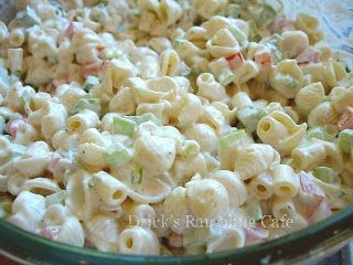 Macaroni Salad  Anyone in the south knows that us true blue Southerners call this Macaroni Salad! Pasta Salad is something totally different.