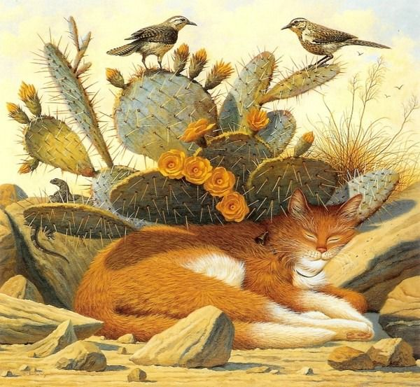 Вы когда-нибудь задумывались, кто стал рисовать на картинах котов, делая их главными персонажами на полотнах? :) А ведь у этого стиля есть свой основатель — Луис Уэйн. Как говорили про этого художника: «Он превратил себя в кота. Он изобрёл кошачий стиль, кошачье общество, целый кошачий мир. Все английские коты должны стыдиться, если не будут хотя бы немного походить на котов Луиса Уэйна». Это был первый худож…