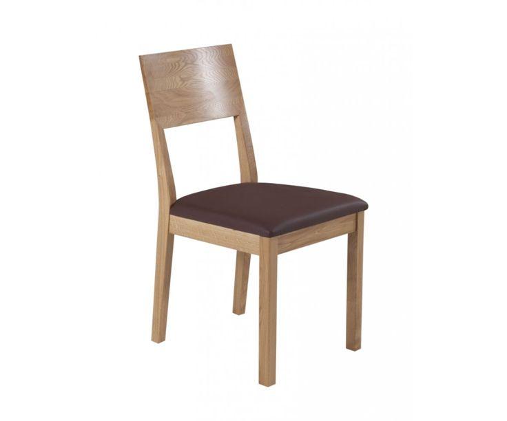 Dubová židle VOL 64 dub/čokoláda