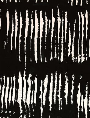 Pierre Soulages - Abstract Art - Informal Painting - (detail)