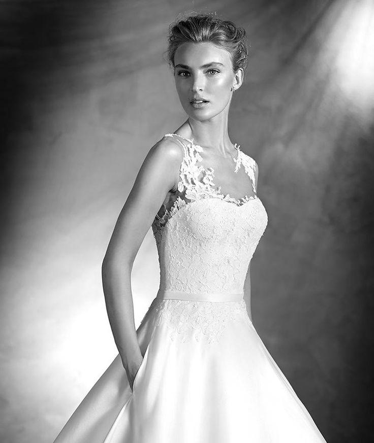 Pronovias > VERILA - Brautkleid mit Spitze und herzförmigem Dekolleté