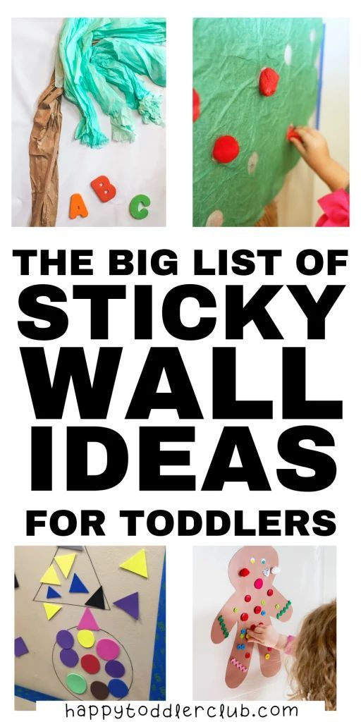 30+ Easy and Fun Sticky Wall Activities for Toddlers