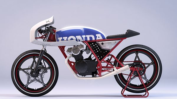 Honda Dream 50 Cafe - CGI on Behance