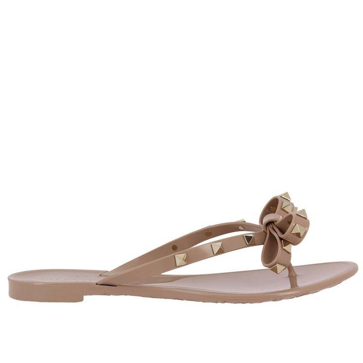 VALENTINO GARAVANI   Valentino Garavani Flat Sandals Shoes Women Valentino Garavani #Shoes #Flat Shoes #VALENTINO GARAVANI