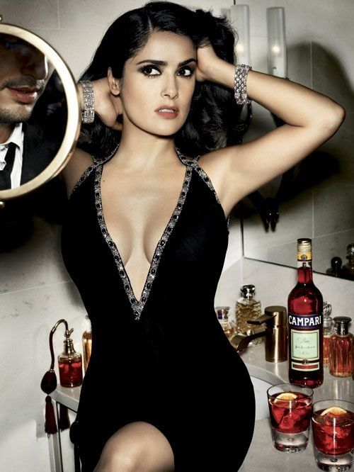 I don't know whether I'm pinning this for Selma Hayek or the Campari...