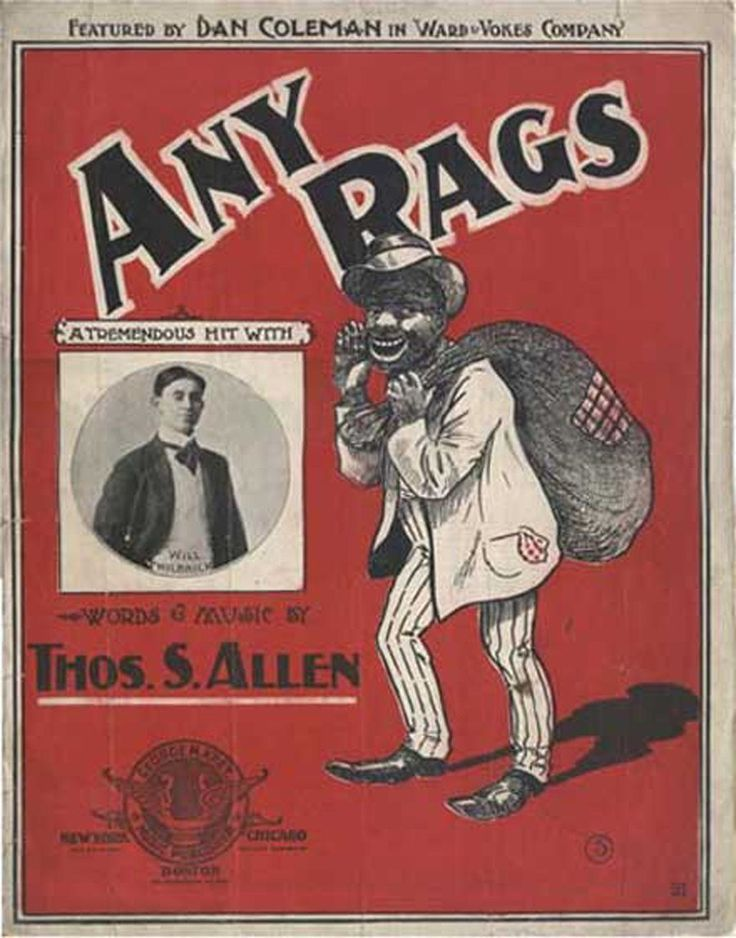 1902 Victorian Sheet Music Black Americana - Any Rags. $28.00, via Etsy.