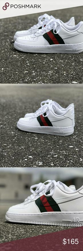 Gucci x nike air force one custom brand new Gucci x nike air force one custom brand new with box multiple sizes avalible Jordan Shoes Sneakers