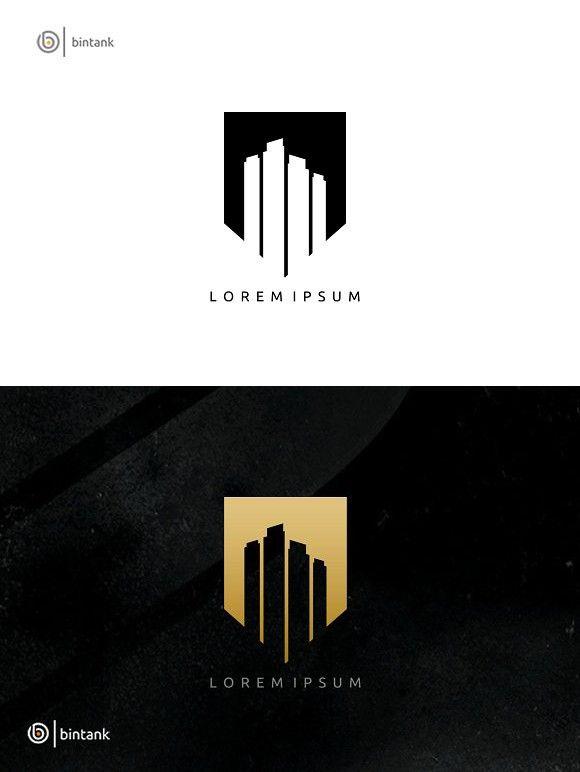 Gold Building Real Estate Logo Building Logo Real Estate Logo Design Real Estate Logo Inspiration