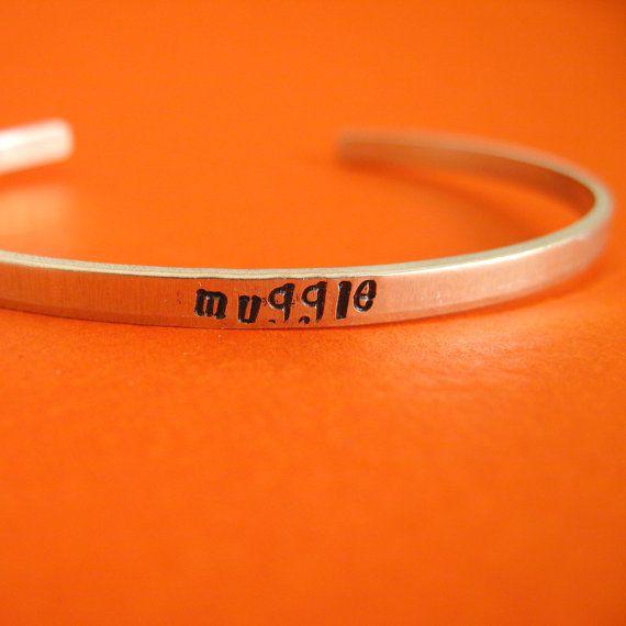 Harry Potter Bracelet Muggle Skinny Stamped by SpiffingJewelry, $15.00