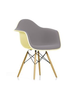 Vitra+Eames+DAW+Stoel+Gestoffeerd #design #chair #grey #vitra #interior…