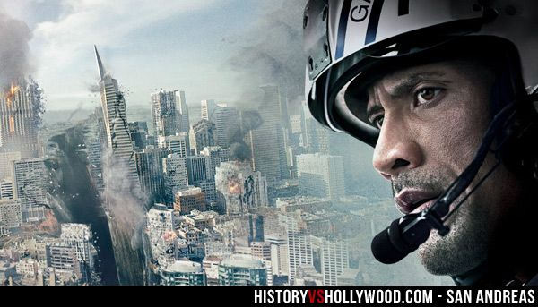"Dwayne Johnson ""The Rock"" stars in the San Andreas movie. We pit the movie's earthquake vs. the real San Andreas Fault: http://www.historyvshollywood.com/reelfaces/san-andreas/"
