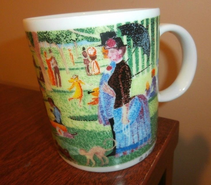 Chaleur master impressionists j. #burrows  #seurat - coffee mug - #sunday afterno,  View more on the LINK: 	http://www.zeppy.io/product/gb/2/302209051646/