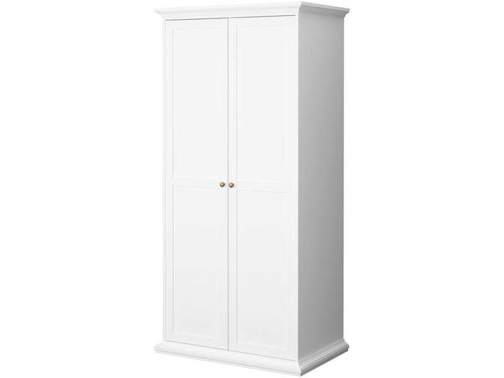 gallery of armoire portes paris coloris blanc pas cher. Black Bedroom Furniture Sets. Home Design Ideas
