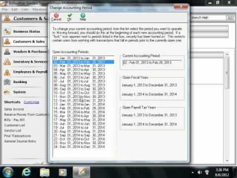 Learn how to change the accounting period in Sage 50 at www.teachUcomp.com. A clip from Mastering Sage 50 Made Easy v. 2013. http://www.teachucomp.com/free - the most comprehensive Sage 50 tutorial available. Visit us today!
