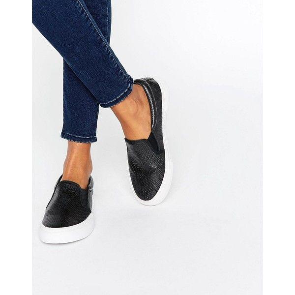 Miss KG Kellie Slip On Plimsolls (2,530 PHP) ❤ liked on Polyvore featuring shoes, sneakers, black, slip-on shoes, plimsoll shoes, black slip on sneakers, canvas slip on sneakers and slip-on sneakers