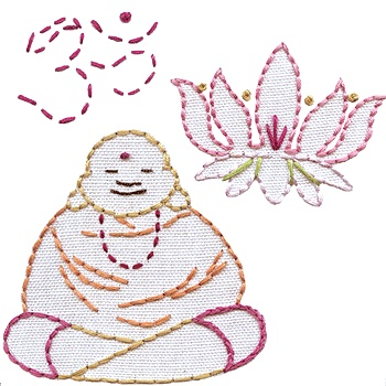 Om Sweet Om embroidery pattern from sublimestitching.com #yoga #buddha #namaste