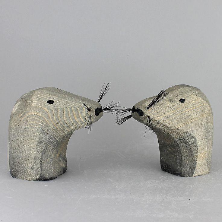 "Johan ""Jönne"" Malmström (2000s) Sociable Seals in Wood"