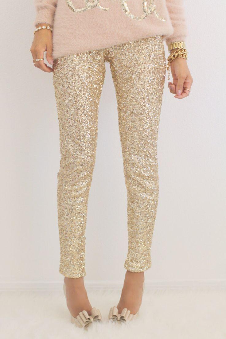 GOLD SEQUIN LEGGINGS by EsClosetBoutique on Etsy https://www.etsy.com/listing/257187372/gold-sequin-leggings