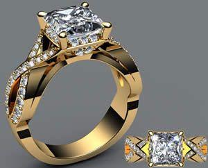 Unique Yellow Gold Engagement Rings   Unique Pictures