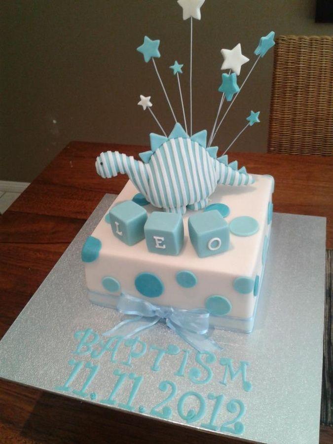 Dinosaur Christening cake