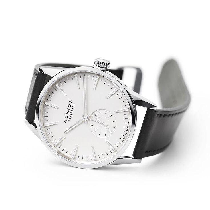 Clean, elegant dial. A real metropolitan #watch with discrete details. Photo Credit: Nomos Glashuette Zürich.
