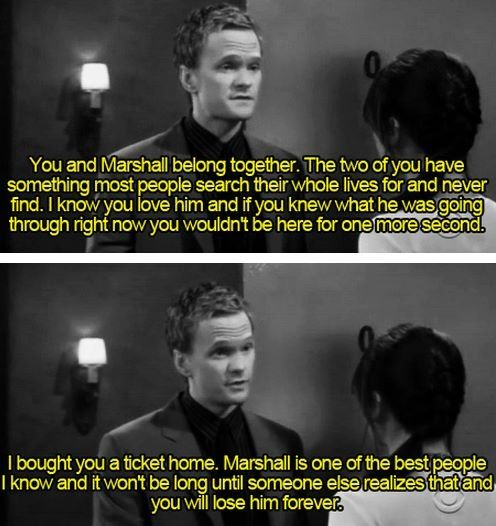 The first time we realize that Barney's not such a bad guy. How I met your mother #himym