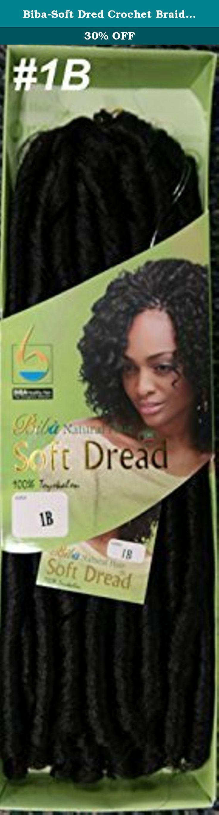 Biba-Soft Dred Crochet Braid-Natural Crochet Hair Braid-[2PACKS DEAL](1B) by Biba. Biba Soft Dread Crochet Braid;2 Packs are Enough.;Natural Hair;100% Toyokalon;Brand New.