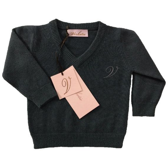 Virkotie STEEL 100% Cashmere Sweater by Virkotie2014 on Etsy