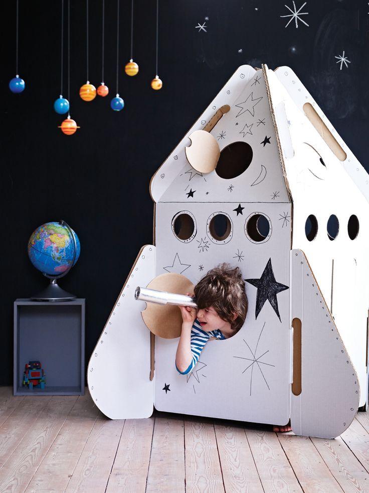 DIY Cardboard Rocketship