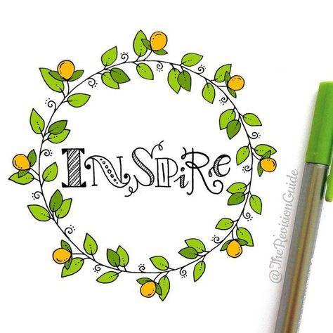 Dibujar una floral wreath o corona de flores - Papelería creativa online