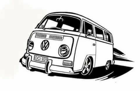 53 best VW T2 line drawings images on Pinterest