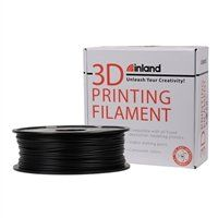 Inland 3mm Black PLA 3D Printer Filament - 1kg Spool (2.2 lbs):   Designed with the highest quality and compatibility in mind, Inland PLA Filament undergoes numerous testing procedures to ensure that you spend less time troubleshooting and more time creating! Sharp corners, low warping and higher maximum print speeds are some of the print traits of PLA based filaments.