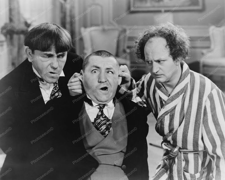 Three Stooges 1930s Fun & Goofy 8x10 Reprint Of Old Photo
