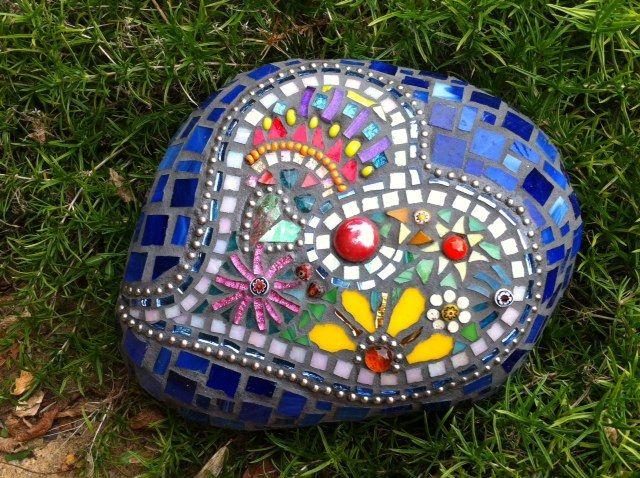 Heart Rock Mosaic