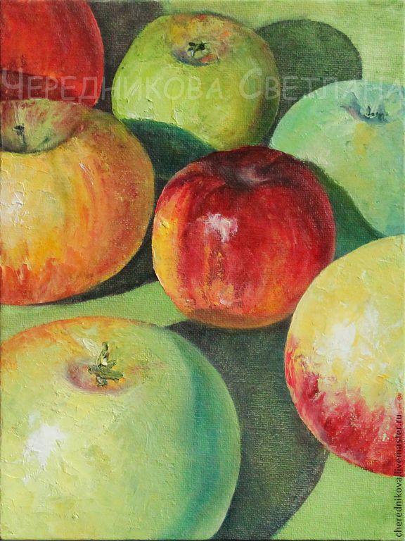 Яблочки (часть II) - ярко-зеленый,желтый,красный,белый,вкусный,сочный