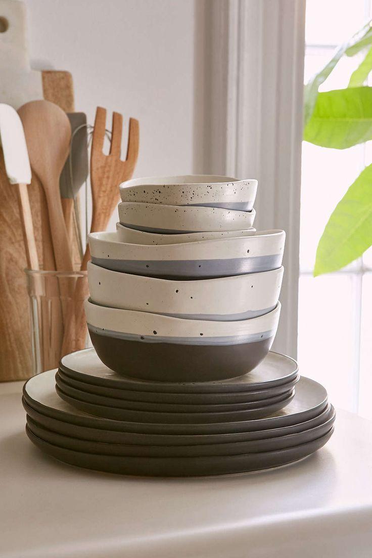 16-Piece Speckle Stoneware Dinnerware Set