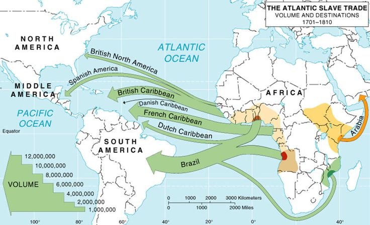 middle passage slave trade | Note that most of the captured slaves did NOT come to the modern day ...