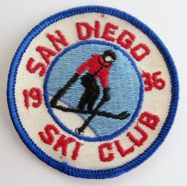 "Vintage 1936 San Diego Ski Club Embroidered 3"" Jacket Patch Downhill Snow Skiing. via Etsy."