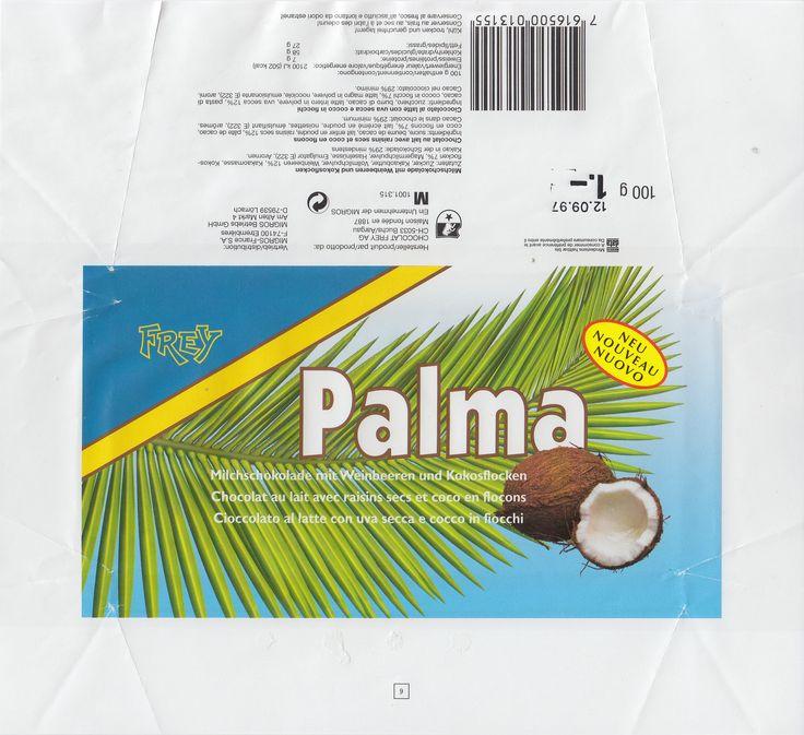 Palma Milchschokolade mit Weinbeeren und Kokosflocken 1996