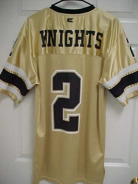 sale retailer d70c2 0c15f CENTRAL FLORIDA KNIGHTS 2 Gold UCF Men Adult Football Jersey ...