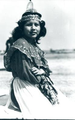Mary Snake, Delaware Tribe, 1947.  The Lenape are Native American/Native Canadian people. They are also called Delaware Indians after their historic territory along the Delaware River.  As a result of disruption following the American Revolutionary War and later Indian removals from the eastern United States, the main groups now live in Ontario (Canada), Wisconsin, and Oklahoma.