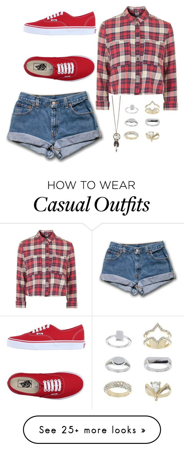 """casual weekend"" by chap15906248 on Polyvore featuring Topshop and Vans"