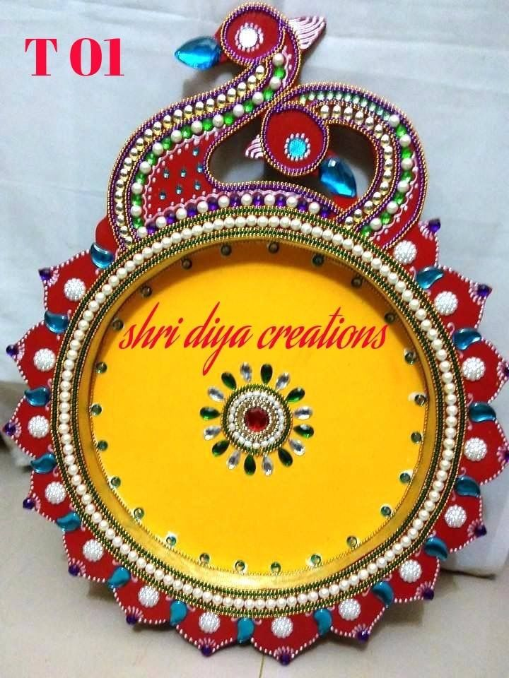 The 218 best images about aarthi plates on pinterest for Aarti thali decoration with grains