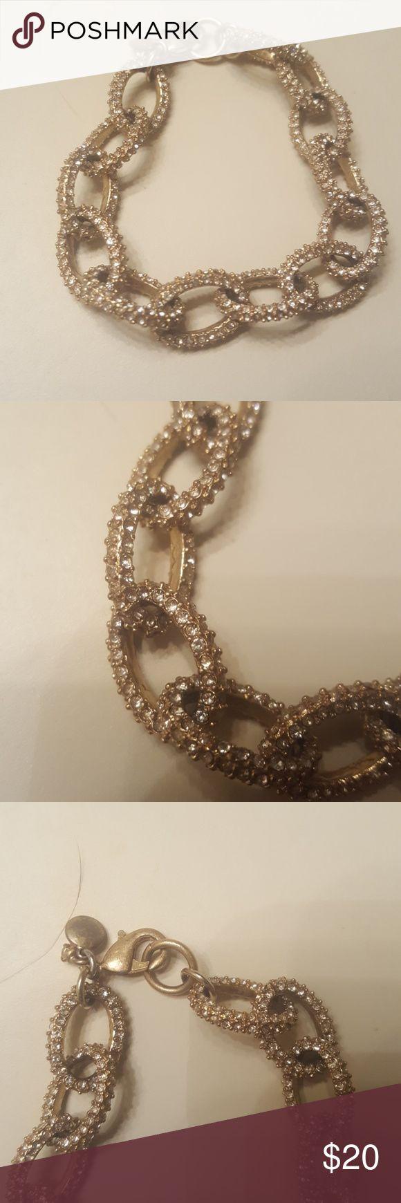 J.Crew chain link bracelet Small chain links, jeweled. $20, but will negotiate J. Crew Jewelry Bracelets