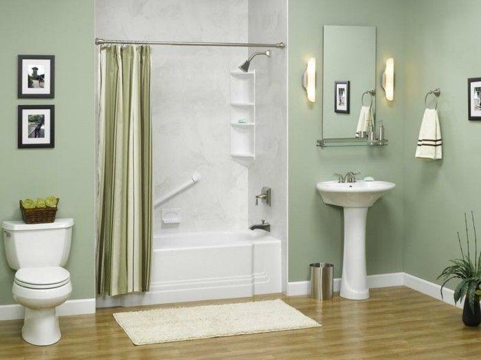 bad einrichten deko ideen einrichtungsbeispiele indigo hell gruen - Badezimmer Grn