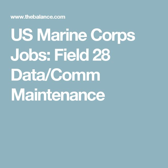 US Marine Corps Jobs: Field 28 Data/Comm Maintenance