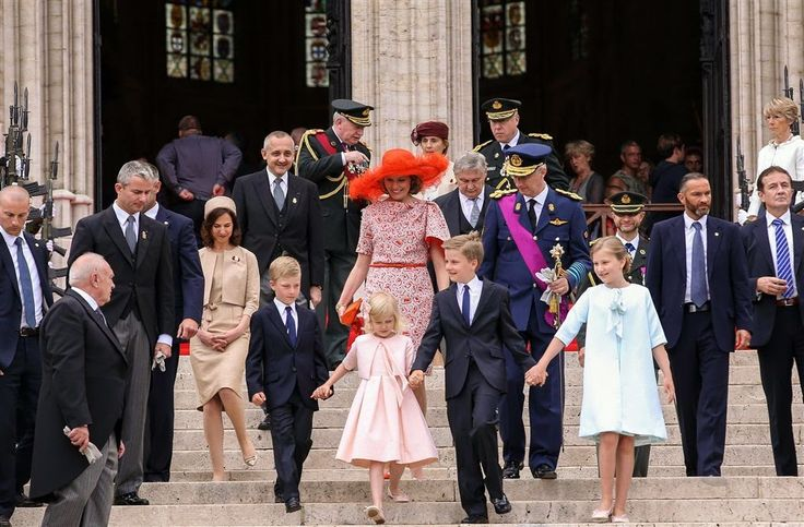 Members of the Belgian Royal Family celebrates National Day in Brussels. July 21, 2014