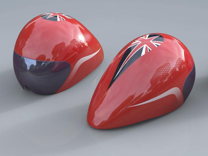 Team GB track helmet for the London Olympics