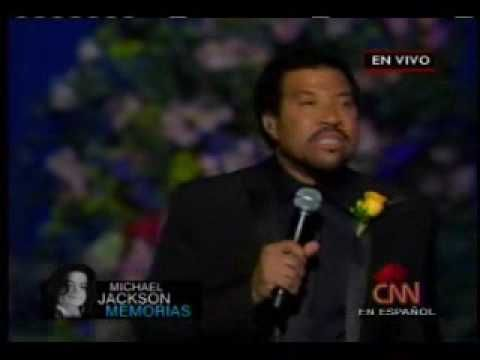 Jesus is Love - Lionel Richie (Jackson Memorial) - YouTube